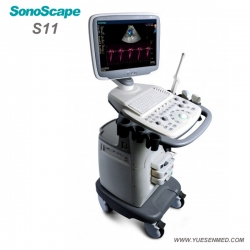 Trolley Mobile Color Doppler Ultrasound Unit SonoScape S11