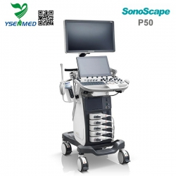 Advanced Color Doppler Mobile Trolley Ultrasound Machine SonoScape P50