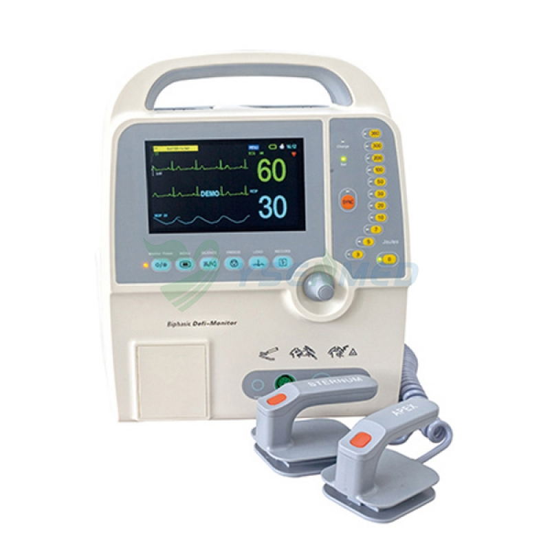 Portable Medical Biphasic External Defibrillator Price YS-8000D