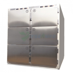 Stainless Steel 6 Corpse Mortuary Freezer YSSTG0106