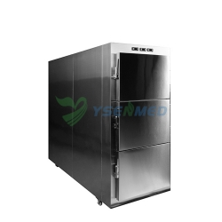 Stainless Steel 3 Bodies Mortuary Freezer YSSTG0103B