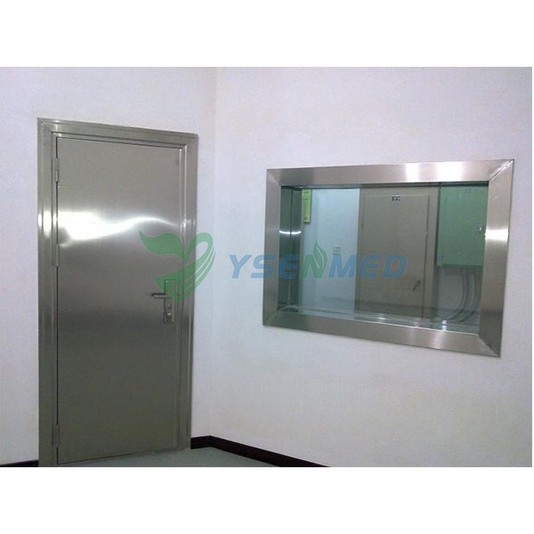 YSX1613 leaded glass with stainless steel frame