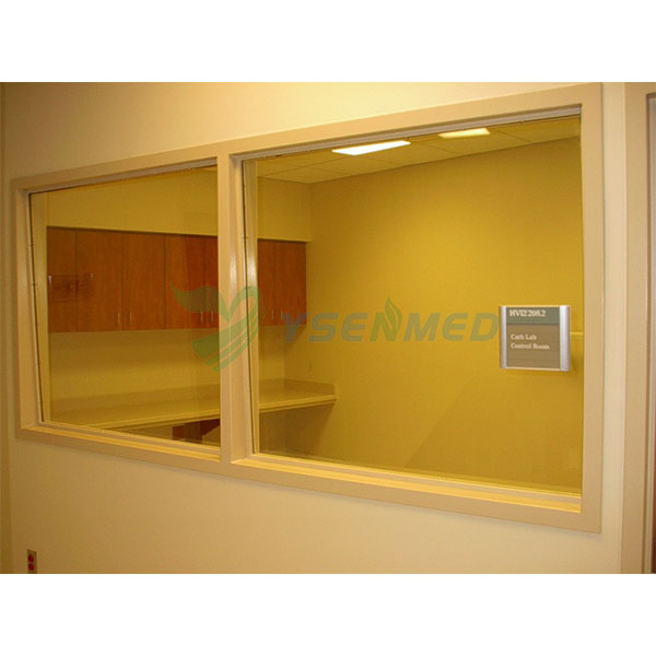 big radiation shielding lead lined glass