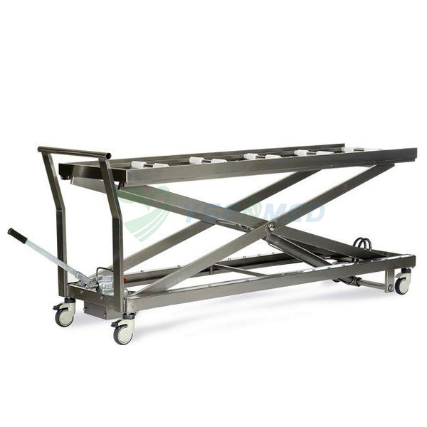 Hydraulic Mortuary lift stretcher trolley