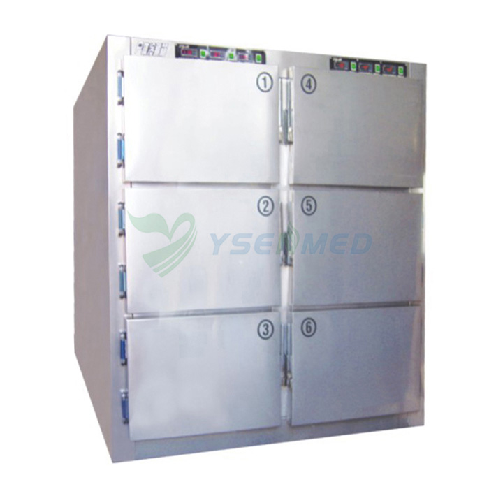 Stainless Steel 6 Corpse Mortuary Freezer