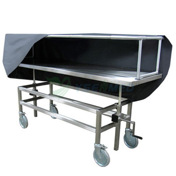Stainless Steel Corpse Transfer Trolley With Cover