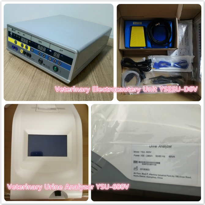 Veterinary Electrocautery Unit YSESU-D6V and Veterinary Urine Analyzer YSU-600V